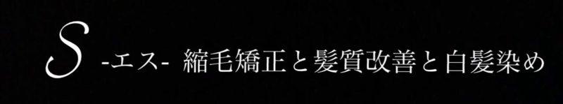 東京都世田谷区用賀の美容室 S-エス- 縮毛矯正と髪質改善と白髪染めに特化した美容室
